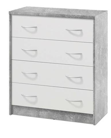 Komoda OPTIMUS 38-008 beton/biela
