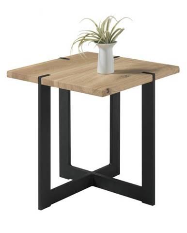 Prístavný stolík TIAGO MINI dub/čierna