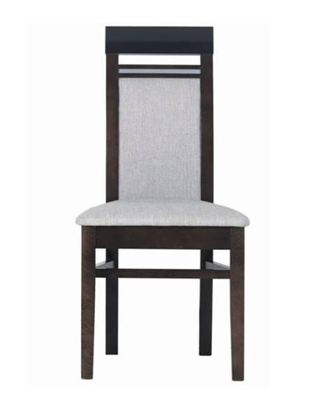 Sconto Jedálenská stolička MALLORCA FR13 orech tmavý/dub miláno