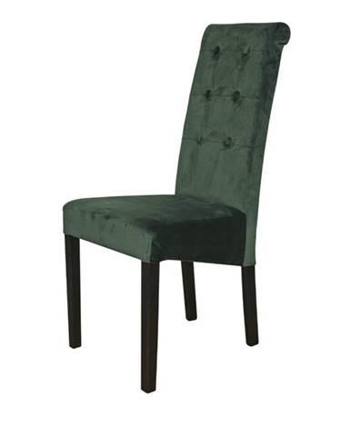 Jedálenská stolička FUCHSIA zelená/čierna