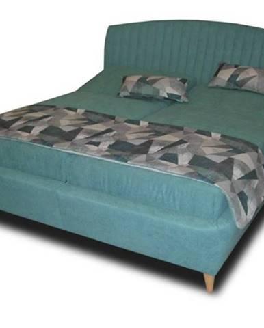 Polohovacia posteľ SHELLY tyrkysová, 180x200 cm