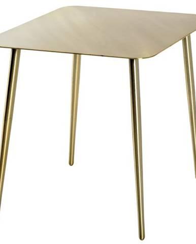 Prístavný stolík GOLDEX zlatá
