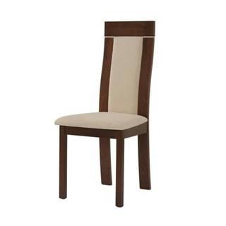 Jedálenská stolička ELENA orech/béžová