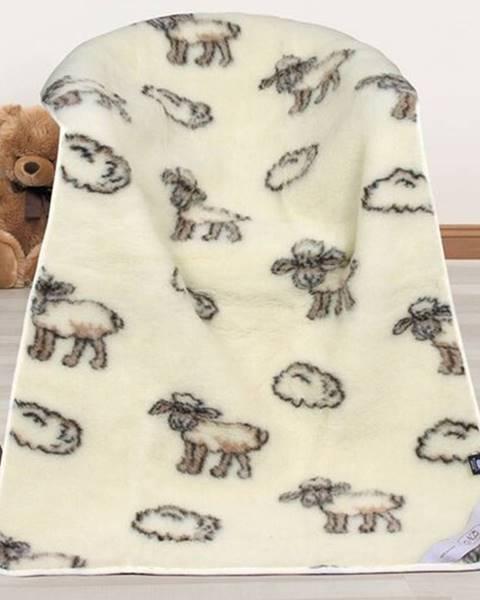 Bellatex Bellatex Vlnená deka Európske merino Ovečka, 100 x 150 cm