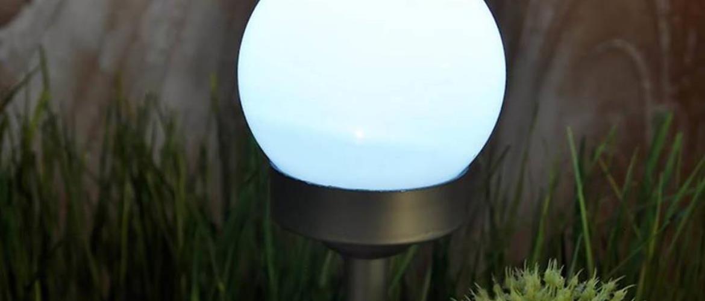 Solární svítidlo 1LED BY-131578 kula biela 10